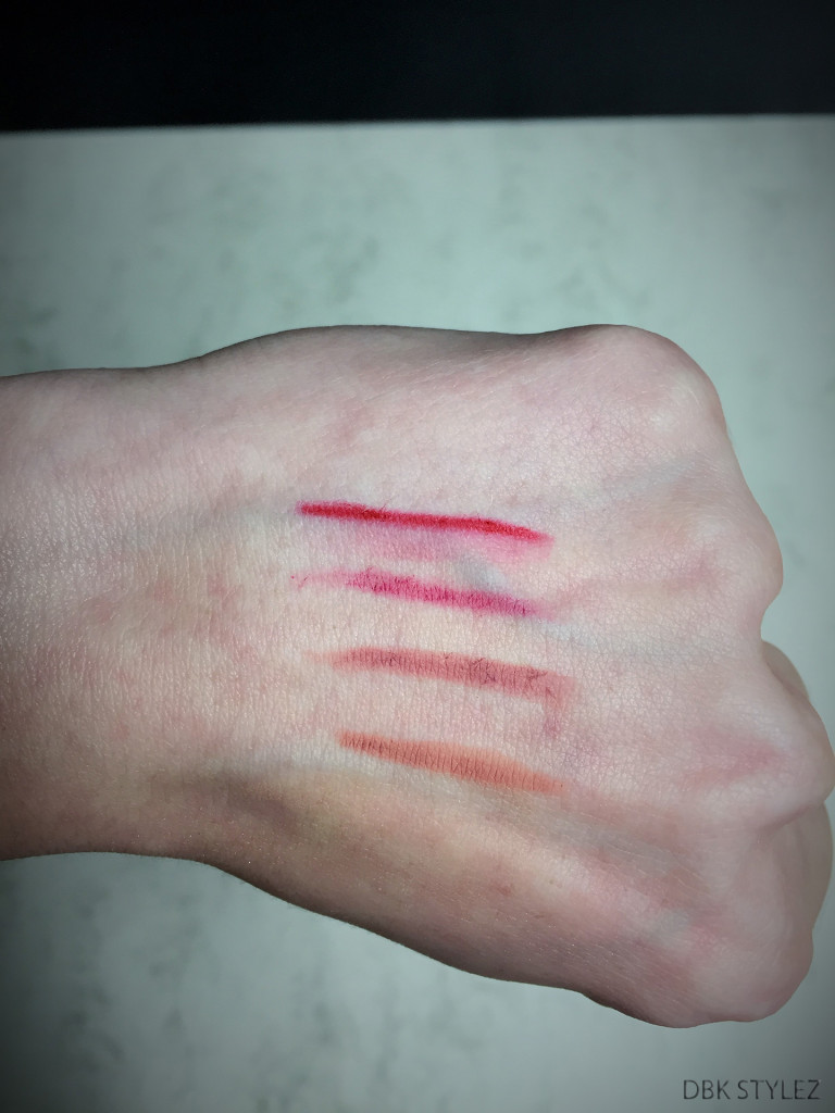 Essence lipliners swatches
