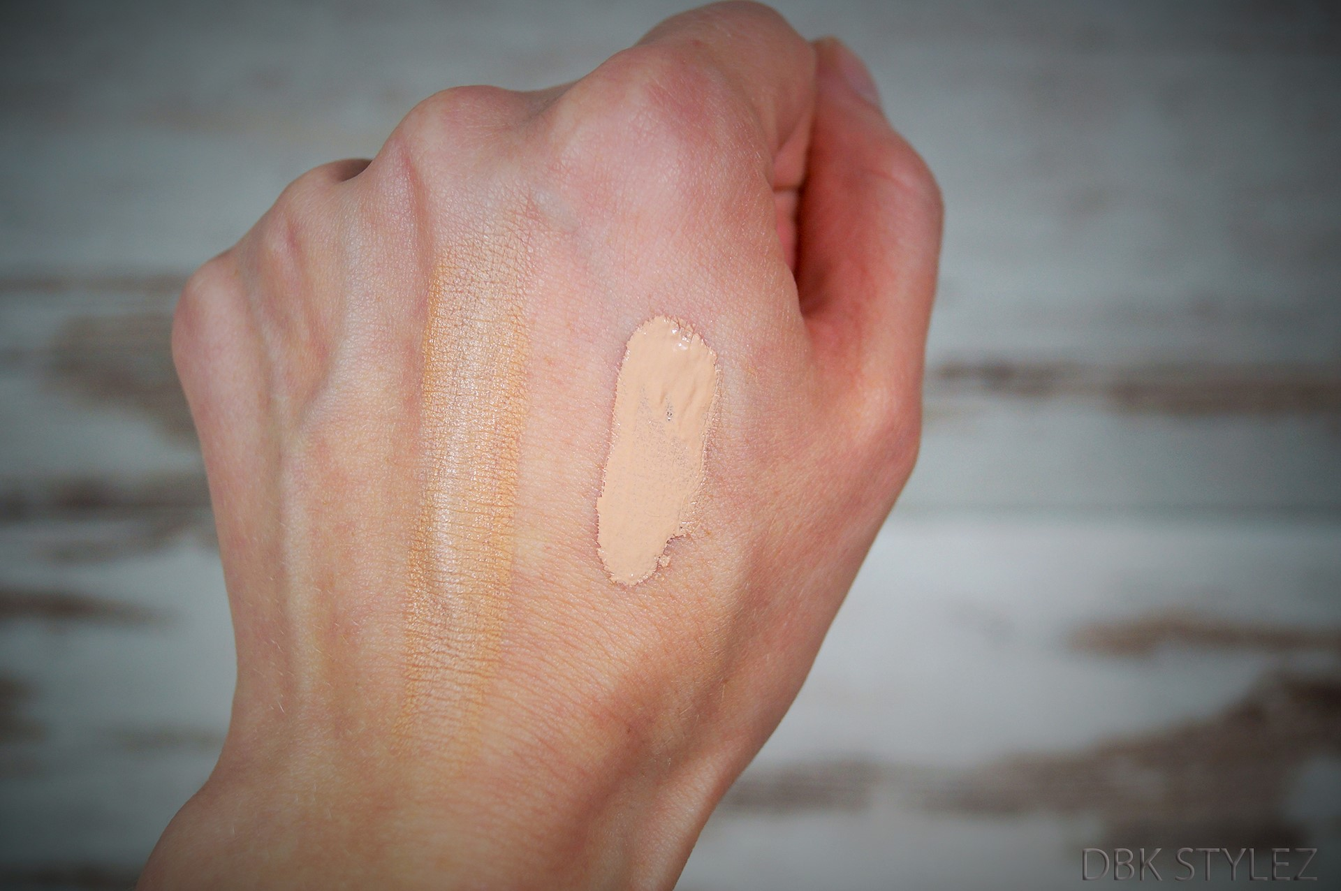 Maybelline Catrice Foundations Competition swatch