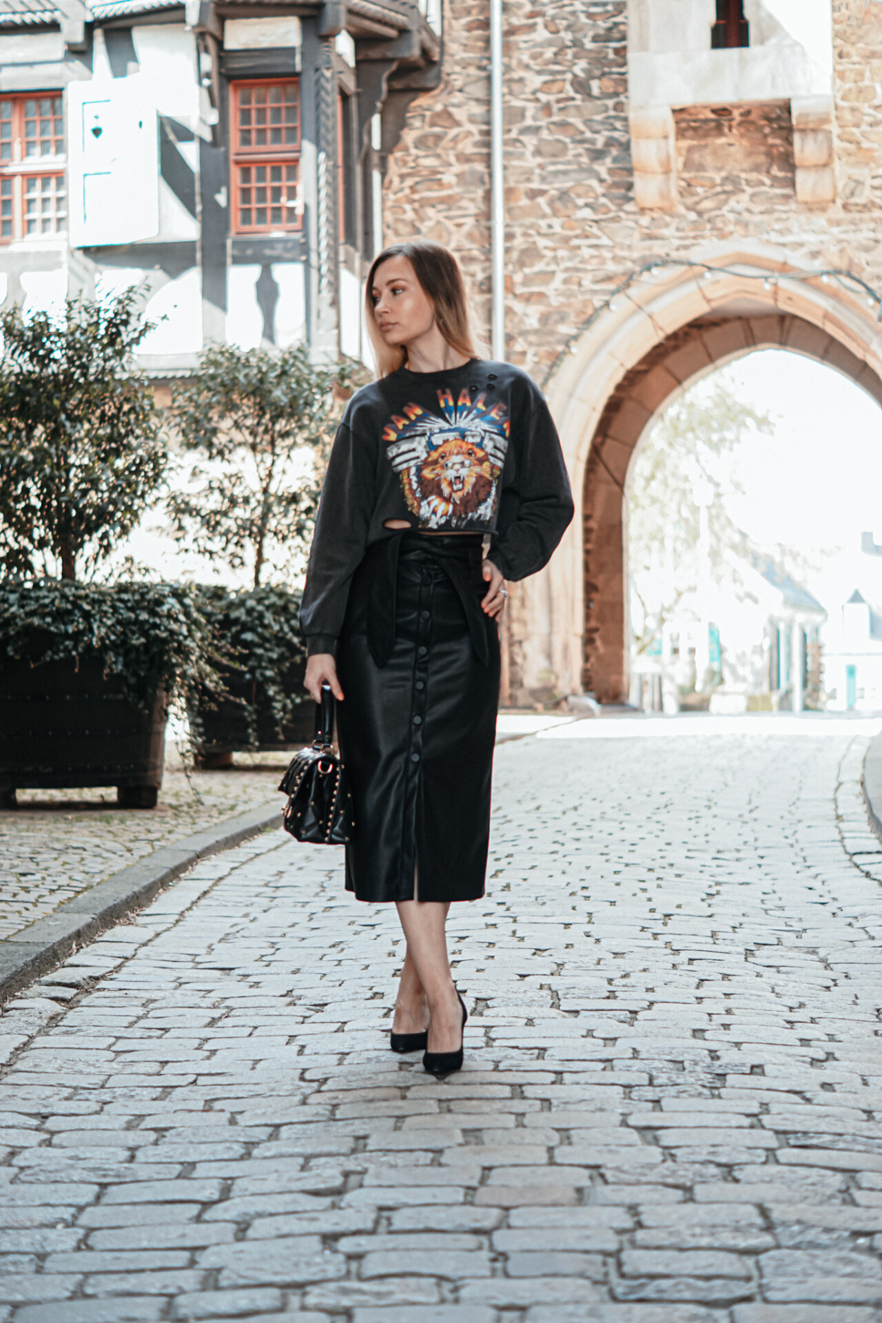 dbkstylez_pencil_skirt_cropped_sweatshirt_bleistiftrock_mode_streetstyle